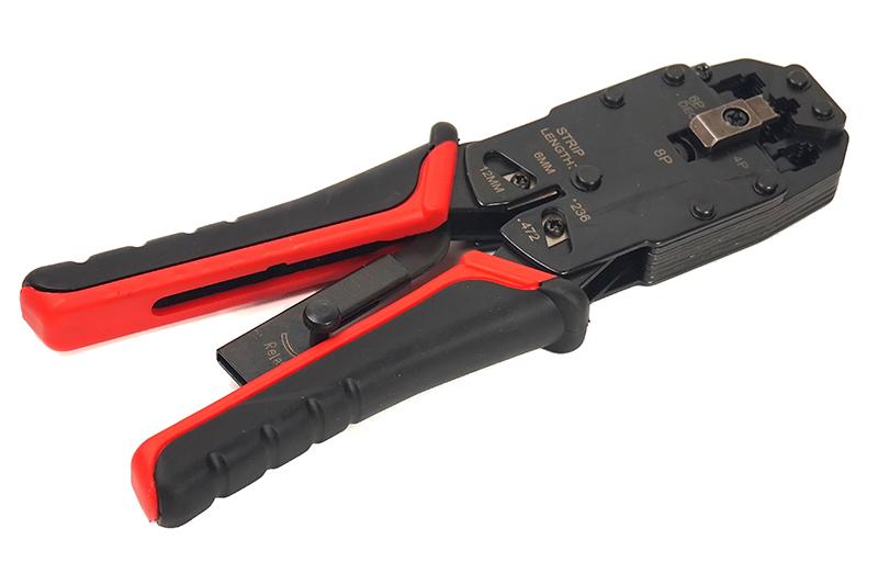 Купить Обжимной инструмент PowerPlant RJ45, RG12, RG11