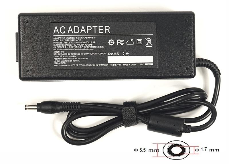 Купить Блок питания для ноутбуков PowerPlant ACER 220V, 19V 120W 6.32A (5.5*1.7)
