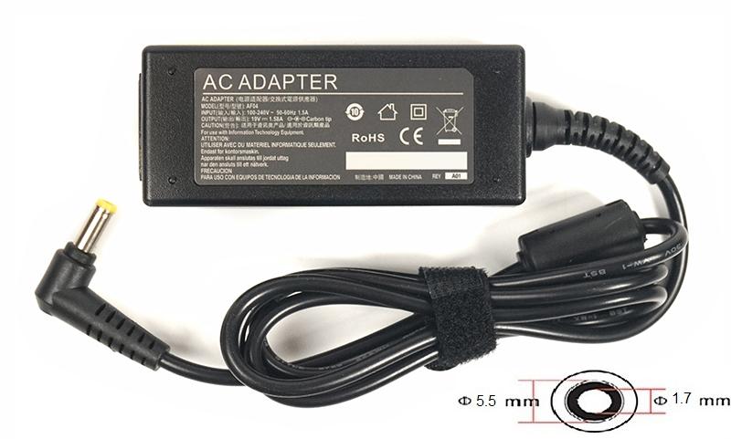 Купить Блок питания для ноутбуков PowerPlant ACER 220V, 19V 30W 1.58A (5.5*1.7)