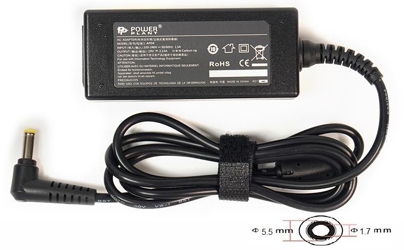 Купить Блок питания для ноутбуков PowerPlant ACER 220V, 19V 40W 2.15A (5.5*1.7)