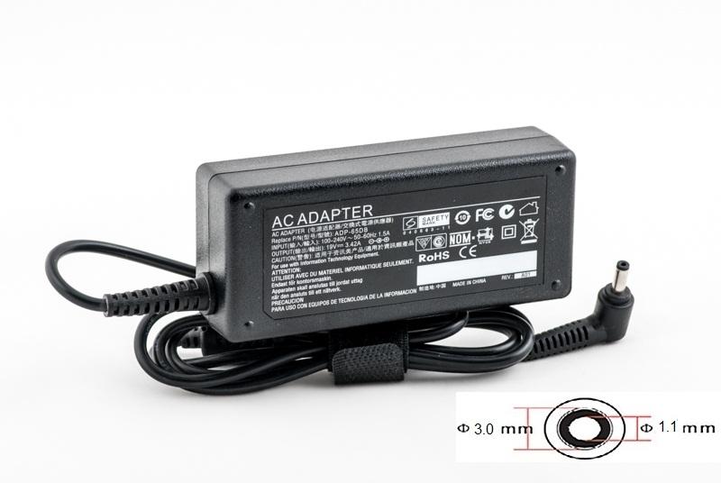 Купить Блок питания для ноутбуков PowerPlant ACER 220V, 19V 65W 3.42A (3.0*1.1)