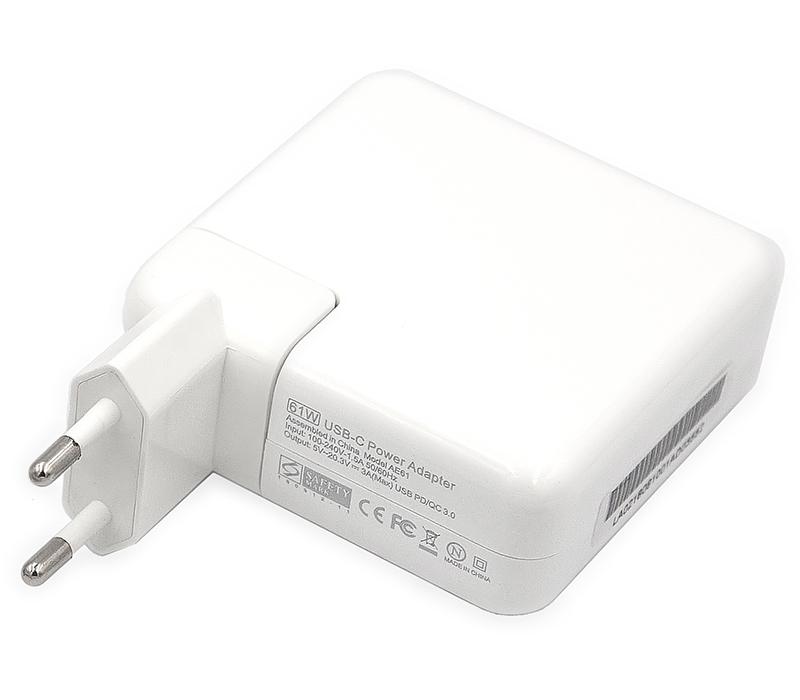 Купить Блок питания для ноутбуков PowerPlant APPLE 220V, 20V 61W (USB Type-C)