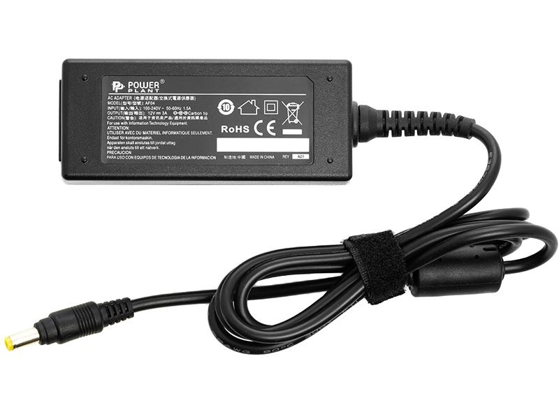 Купить Блок питания для ноутбуков PowerPlant ASUS 220V, 12V 36W 3A (4.8*1.7)