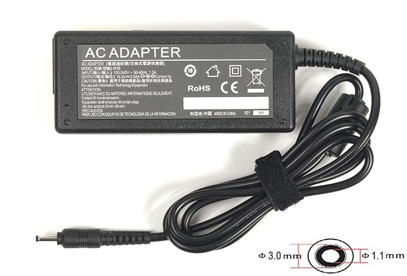 Купить Блок питания для ноутбуков PowerPlant ASUS 220V, 19.5V 60W 3.08A (3.0*1.1)