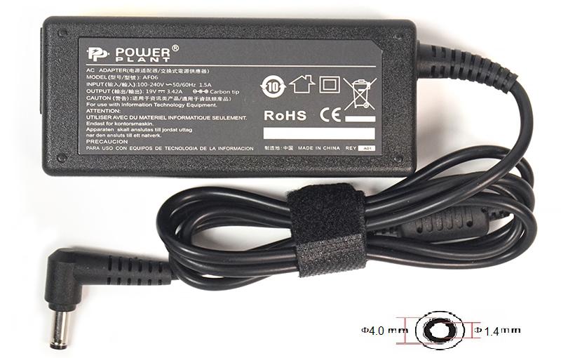 Купить Блок питания для ноутбуков PowerPlant ASUS 220V, 19V 65W 3.42A (4.0*1.35)
