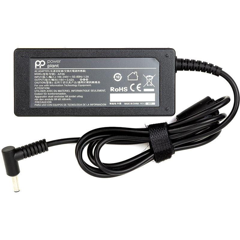 Купить Блок питания для ноутбуков PowerPlantASUS 220V, 65W: 19V, 3.42A