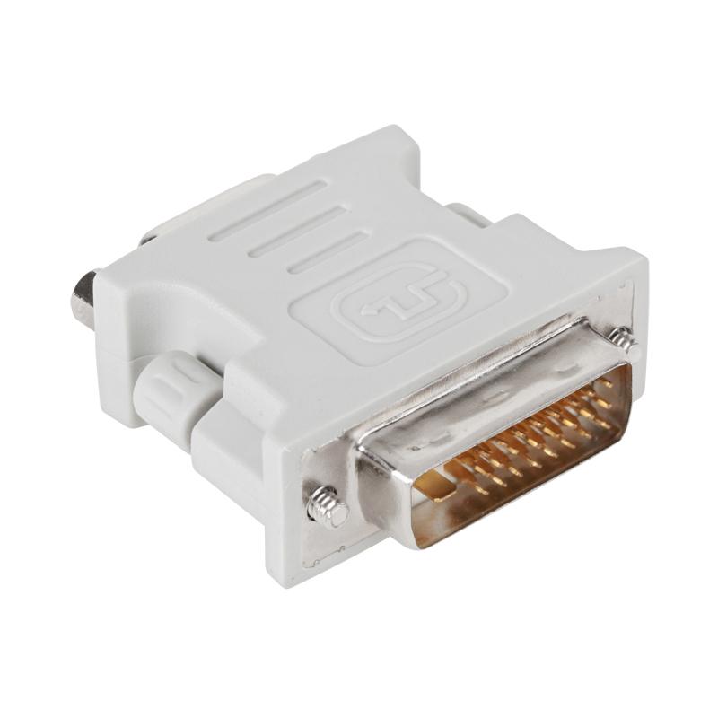 Купить Переходник PowerPlant DVI-D M - VGA F, белый