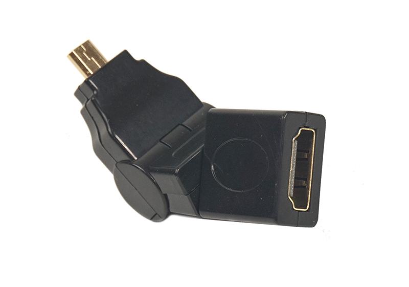 Купить Переходник PowerPlant HDMI AF - micro HDMI AM, 360 градусов