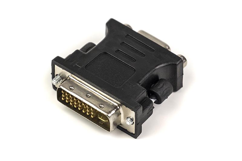 Купить Переходник PowerPlant VGA - DVI-I (24+5 pin), черный