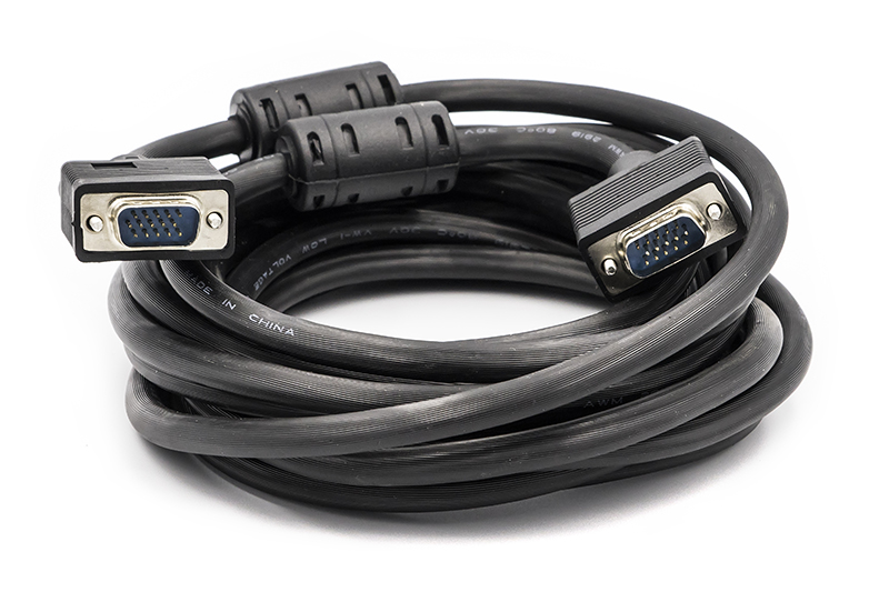 Купить Видео кабель PowerPlantVGA-VGA, 5м, Double ferrites