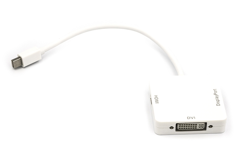 Купить Кабель-переходник PowerPlant mini DisplayPort (Thunderbolt) - DisplayPort, HDMI, DVI 0.2 м