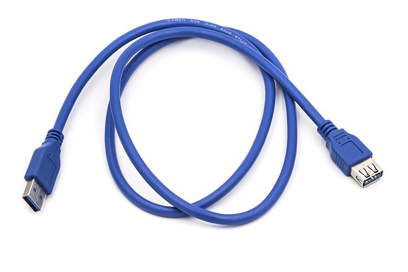 Купить Кабель PowerPlant USB 3.0 AF – AM, 1 м
