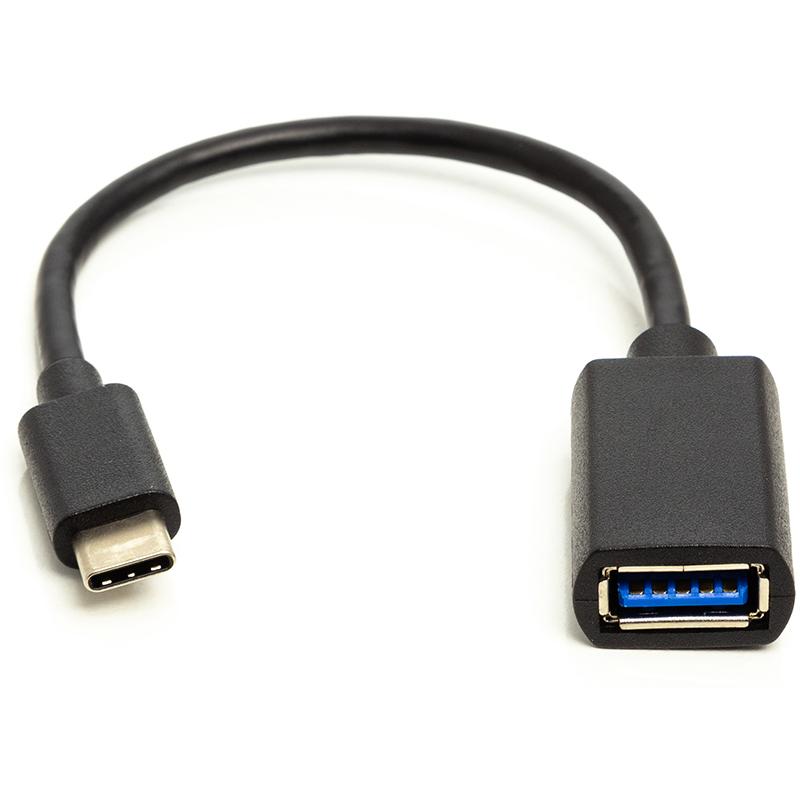 Купить Кабель PowerPlant OTG USB 2.0 AF - Type-C, 0.1 м