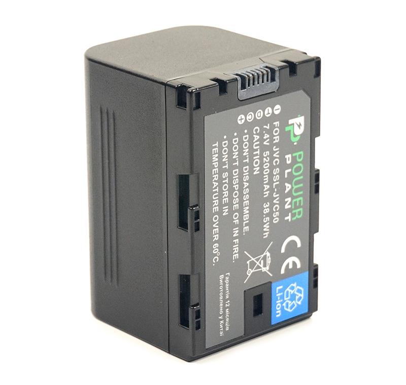 Купить Аккумулятор PowerPlant JVC SSL-JVC50 5200mAh