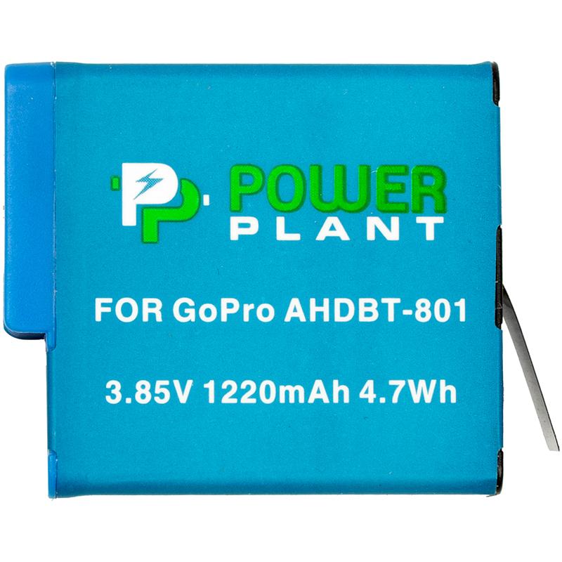 Купить Аккумулятор PowerPlant GoPro AHDBT-801 1220mAh (декодирован)