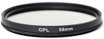 Купить Светофильтр PowerPlant CPL 58 мм