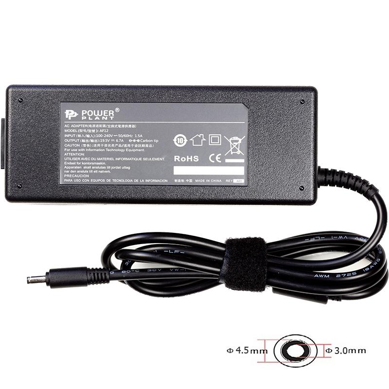 Купить Блок питания для ноутбуков PowerPlant DELL 220V, 19.5V 130W 6.7A (4.5*3.0)