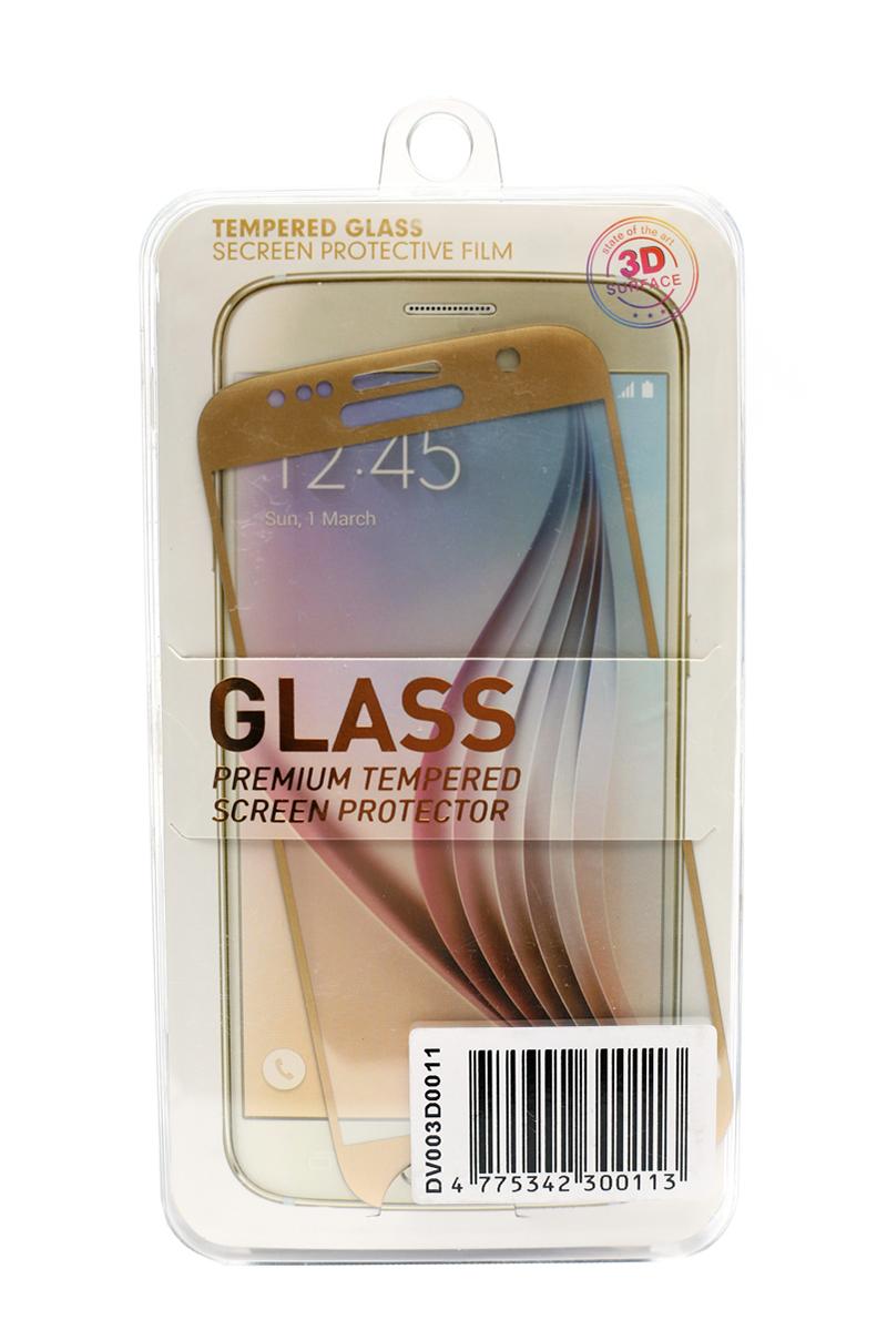 Купить Защитное стекло 3D PowerPlant для Samsung S7 Gold