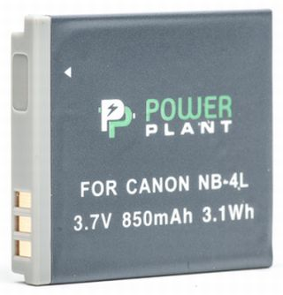 Купить Аккумулятор PowerPlant Canon NB-4L 850mAh