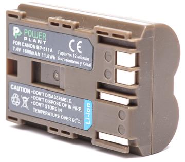 Купить Аккумулятор PowerPlant Canon BP-511 1600mAh