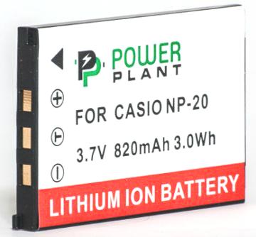 Купить Аккумулятор PowerPlant Casio NP-20 820mAh