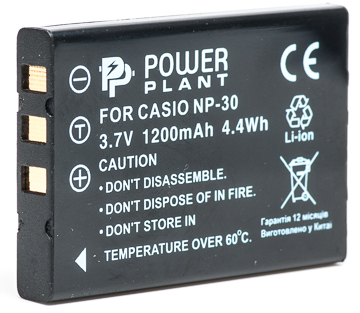 Купить Аккумулятор PowerPlant Casio NP-30, KLIC-5000, LI-20B