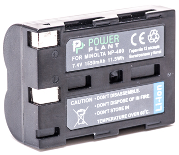 Купить Аккумулятор PowerPlant Minolta NP-400, Pentax D-Li50 1550mAh