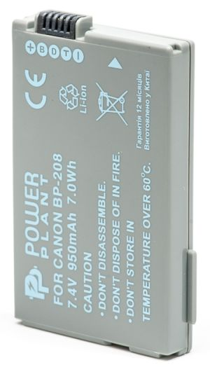 Купить Аккумулятор PowerPlant Canon BP-208 950mAh