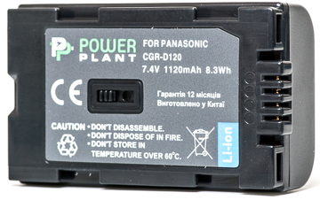 В наличии - Аккумулятор PowerPlant Panasonic D120, D08S 1120mAh цена, характеристики