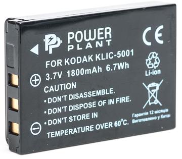 Купить Аккумулятор PowerPlant Kodak KLIC-5001, DB-L50 1800mAh
