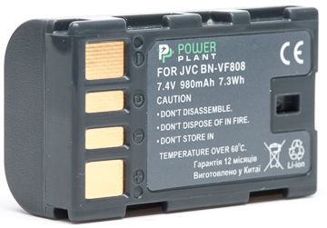 Купить Аккумулятор PowerPlant JVC BN-VF808 980mAh
