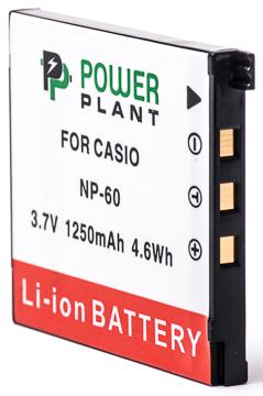 Купить Аккумулятор PowerPlant Casio NP-60 1250mAh