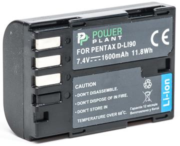 Купить Аккумулятор PowerPlant Pentax D-Li90 1600mAh