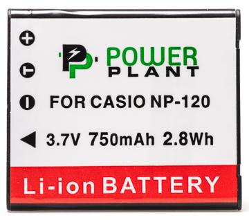 Купить Аккумулятор PowerPlant Casio NP-120 750mAh