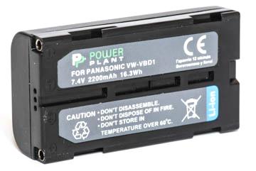 Купить Аккумулятор PowerPlant Panasonic VW-VBD1, BN-V812 2200mAh