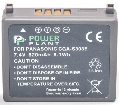 Купить Аккумулятор PowerPlant Panasonic VW-VBE10, CGA-S303 820mAh