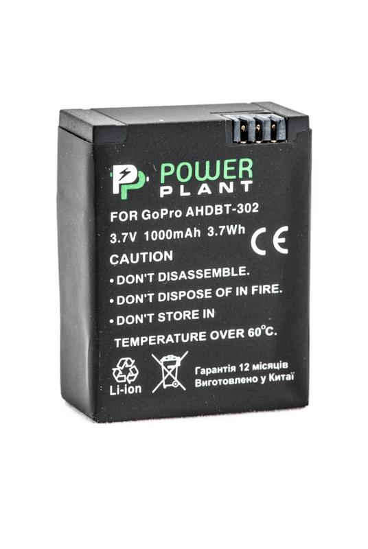 Купить Аккумулятор PowerPlant для GoPro AHDBT-302 1000mAh