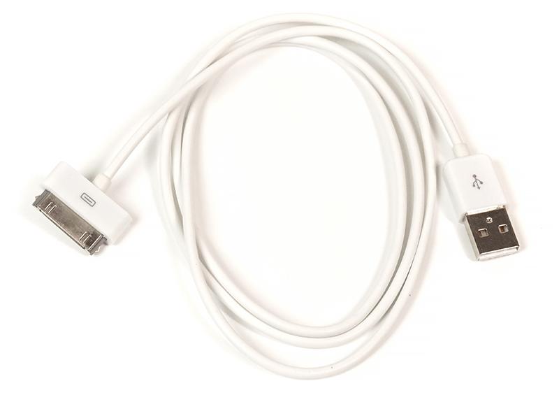 Купить Кабель PowerPlant USB - 30pin (4/4s), 1м