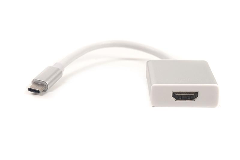 Купить Кабель-переходник PowerPlant HDMI female - USB Type-C, 0.15м, Blister