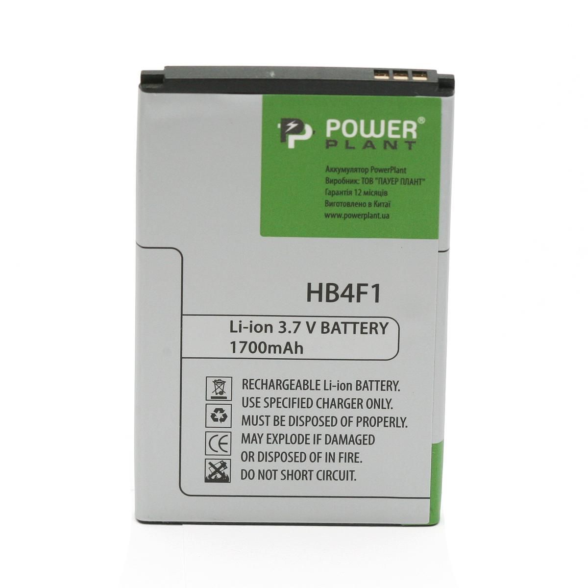 Купить Аккумулятор PowerPlant Huawei C8600 (HB4F1) 1700mAh