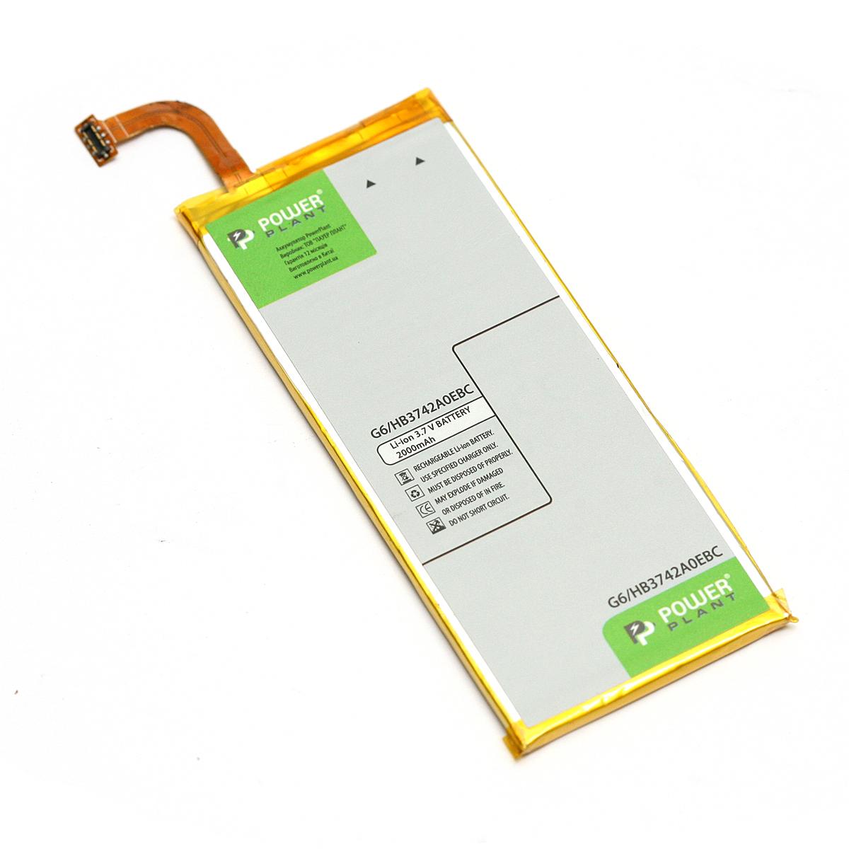 Купить Аккумулятор PowerPlant Huawei Ascend G6 (HB3742A0EBC) 2000mAh