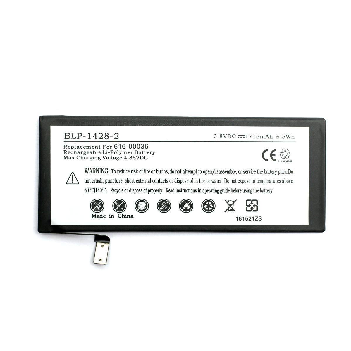 Купить Аккумулятор PowerPlant Apple iPhone 6S (616-00036) new 1715mAh