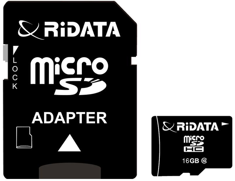 Купить Карта памяти RiDATA microSDHC 16GB Class 10 + SD адаптер