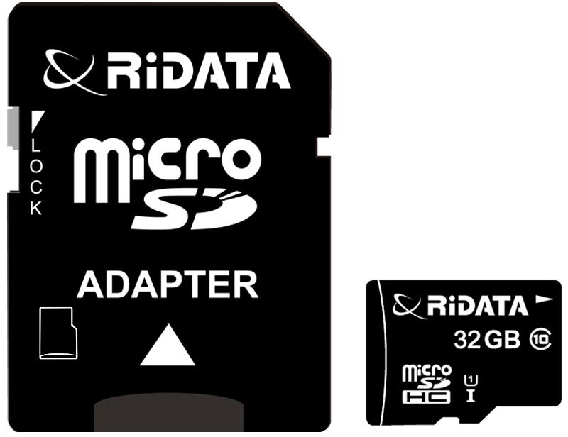 Купить Карта памяти RiDATA microSDHC 32GB Class 10 UHS-I + SD адаптер