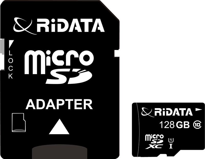Купить Карта памяти RiDATA microSDXC 128GB Class 10 UHS-I + SD адаптер