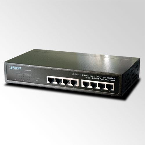 В наличии - Неуправляемый коммутатор PoE Planet FSD-804P-EU (8-Port 10/100Mbps with 4-Port PoE) цена, характеристики