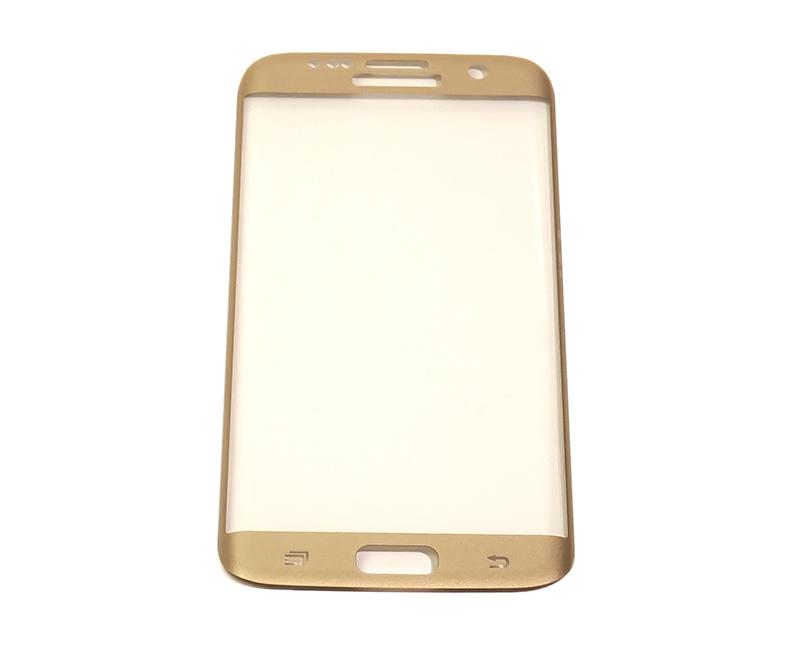 Купить Защитное стекло 3D PowerPlant для Samsung S7 Edge Gold