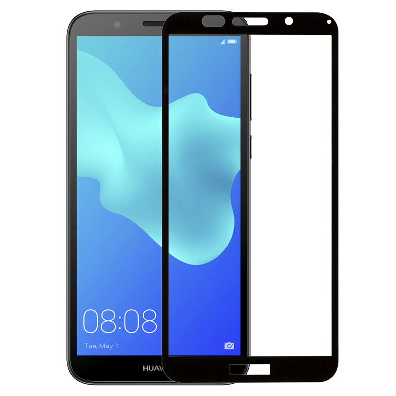 Купить Защитное стекло Full screen PowerPlant для Huawei Y5 (2018), Black