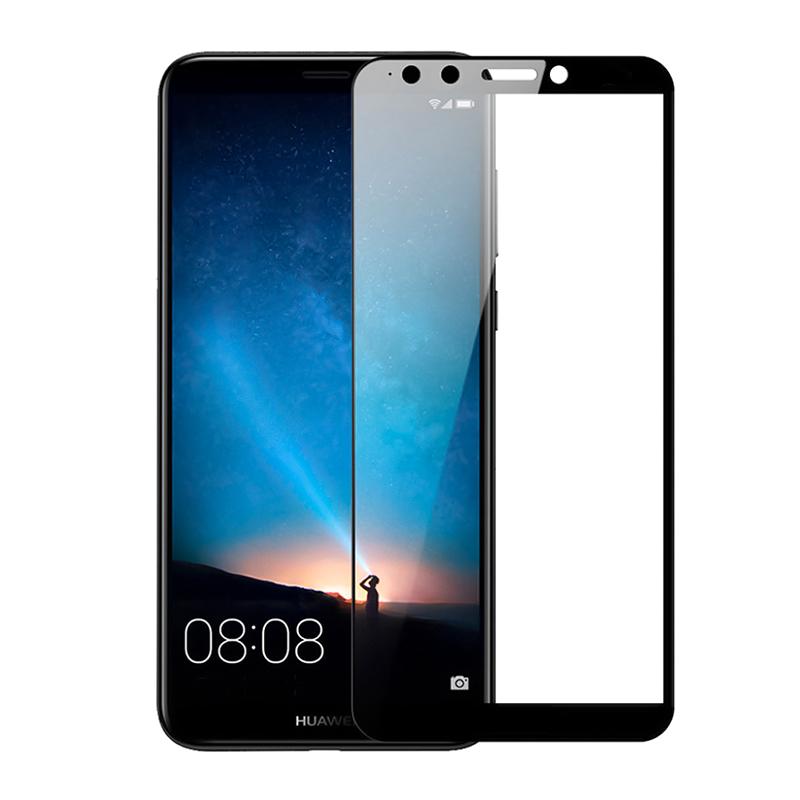 Купить Защитное стекло Full screen PowerPlant для Huawei Y9 (2018), Black