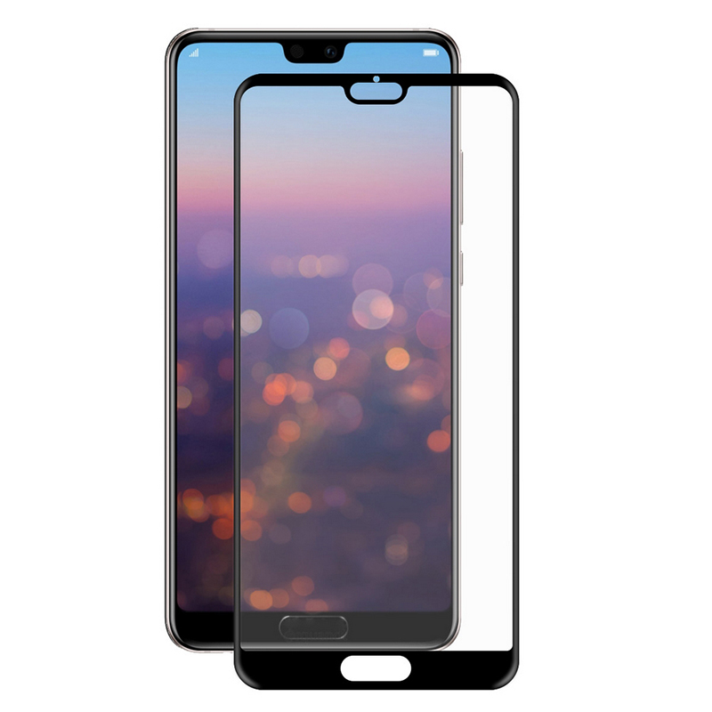 Купить Защитное стекло Full screen PowerPlant для Huawei P20, Black